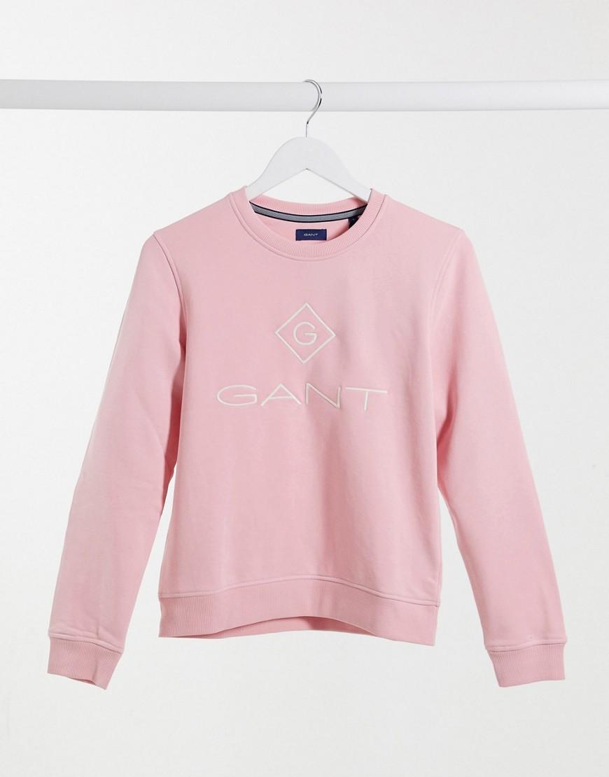 sweatshirt with chest logo in pink
