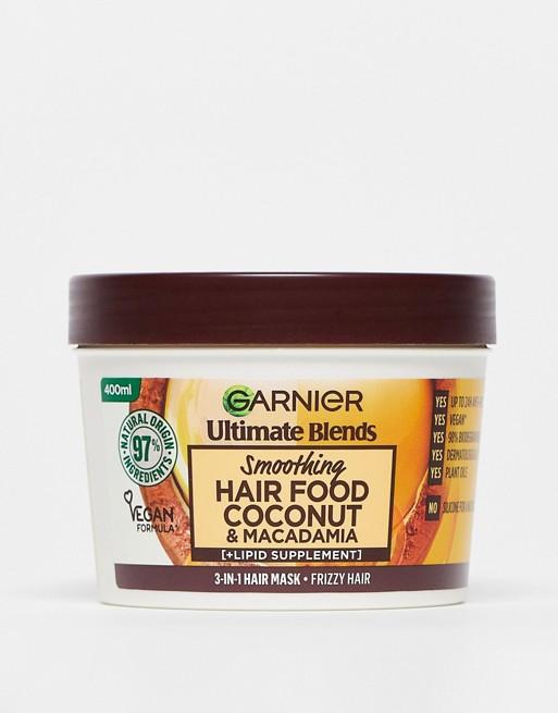 Garnier - Ultimate Blends - Veganistische haarvoedende kokosnootolie 3-in-1 haarmasker voor pluizig haar 390ml