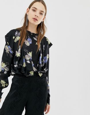 Image 1 of Gestuz Aia Floral Print Blouse