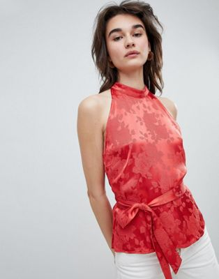 Gestuz Rose Jacquard Sleeveless Top