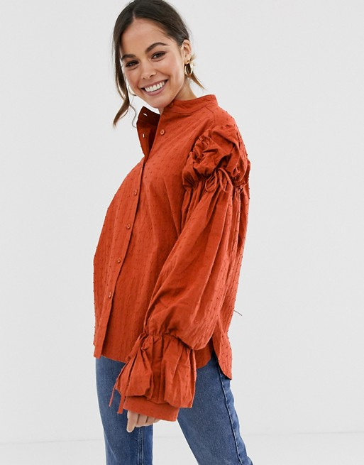 Ghospell - Blouse oversize à manches bouffantes