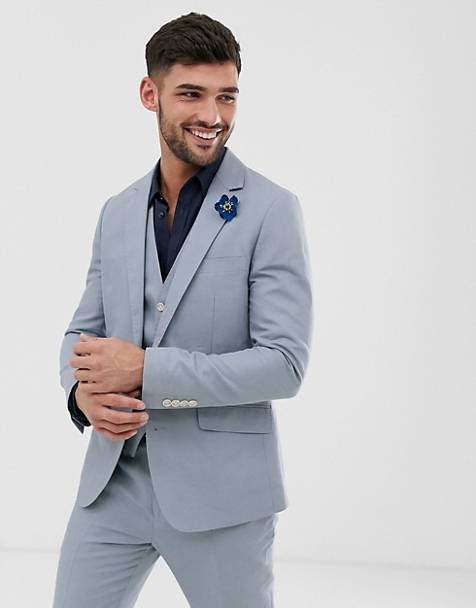 Gianni Feraud Wedding Slim Fit Linen Plain Suit Jacket