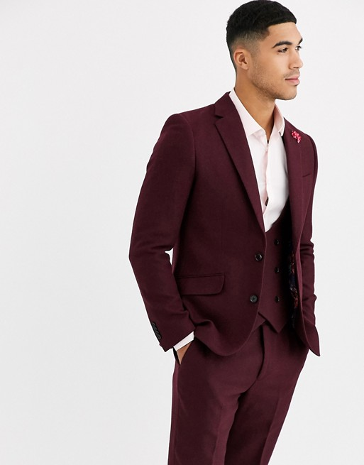 Gianni Feraud - Winter Wedding - Slim-fit tweed colbert van wolmix
