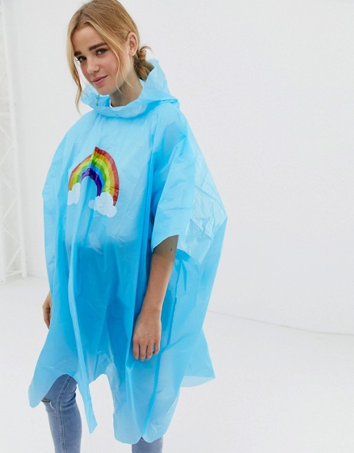 Image 1 of Gift Republic rainbow poncho