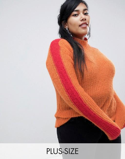 Glamorous Curve - Pull décontracté effet color block aux manches