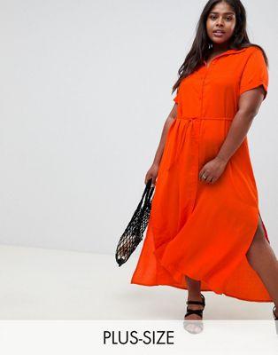Glamorous Curve - Vestito camicia allacciato in vita