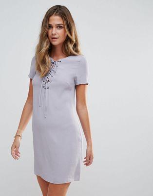 Image 1 of Glamorous Lace Up Shift Dress