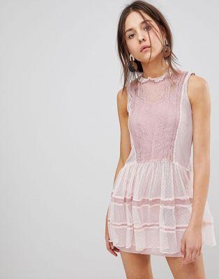 Afbeelding 1 van Glamorous mesh jurk