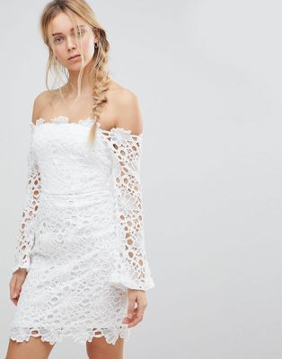 Glamorous Off Shoulder Lace Dress