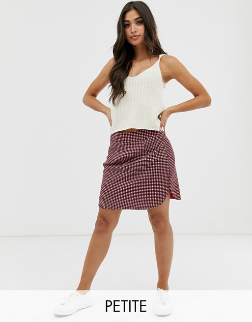 Image 1 of Glamorous Petite mini skirt in check