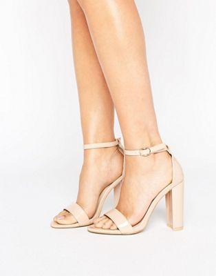 Glamorous – Sandaler med smala remmar och blockklack