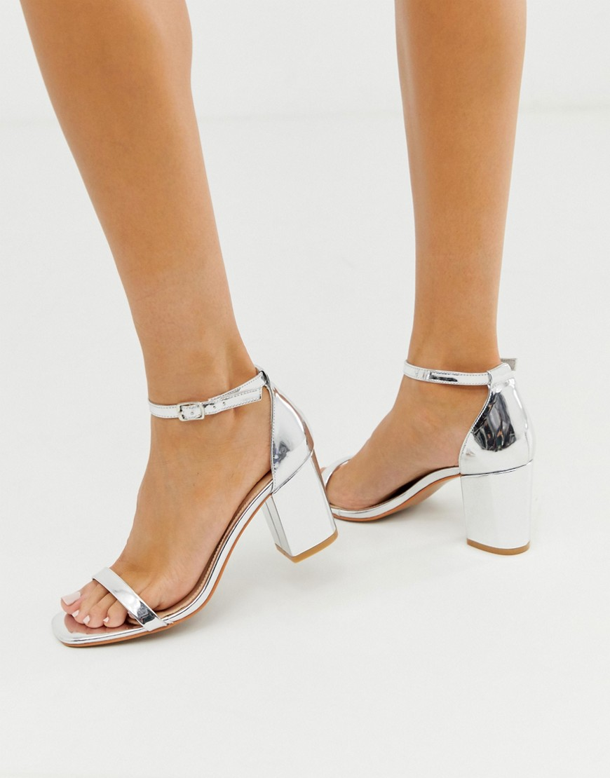 Sandals by Glamorous Add-to-bag potential: considerable Ankle-strap fastening Two strap design Open toe Mid block heel