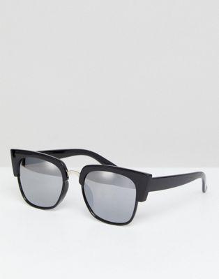 Bild 1 av Glamorous – Svarta fyrkantiga solglasögon i oversize-modell