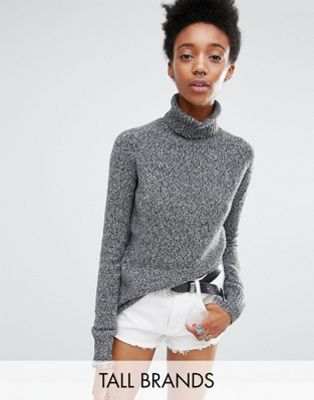 Image 1 of Glamorous Tall Roll Neck Knitted Sweater