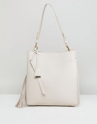 Glamorous Taupe Oversized Bag with Tassel