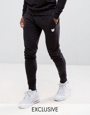 Good For Nothing – Enge Jogginghose in Schwarz mit kleinem Logo