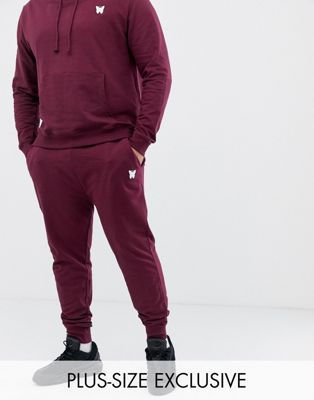 Good For Nothing – Enge Jogginghose mit kleinem Logo in Burgunder, exklusiv bei ASOS