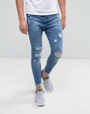 Good For Nothing - Jean super skinny effet vieilli - Bleu