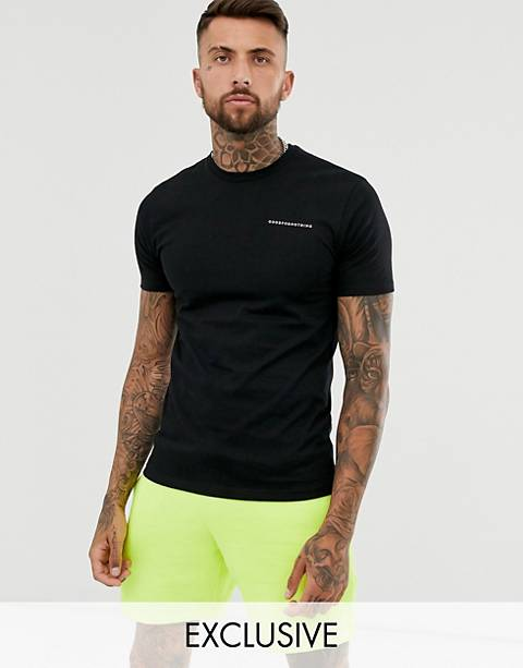 Good For Nothing muscle fit t-shirt in black with logo
