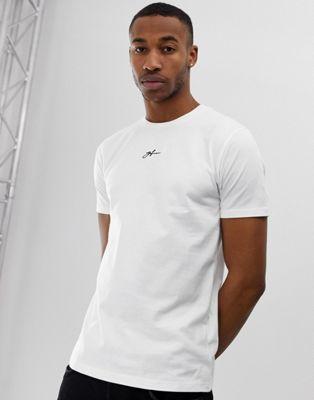 Good For Nothing - Muscle-fit T-shirt met klein logo op de borst in wit