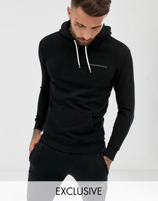 Good For Nothing – Muskel-Kapuzenpullover in Schwarz mit Logo