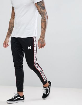 Good For Nothing Skinny Joggers In Black With Logo Side Stripes