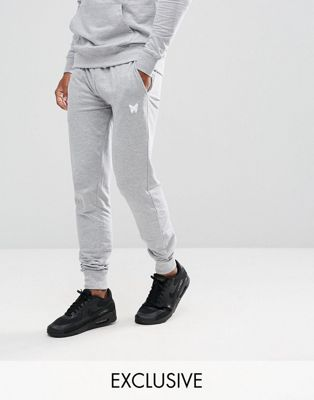 Good For Nothing Skinny Joggers in Grey with Small Logo