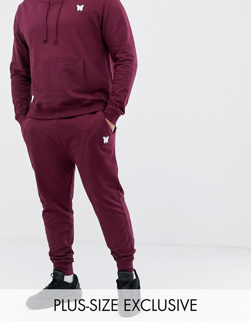 Image 1 of Good For Nothing skinny sweatpants in burgundy with small logo exclusive to ASOS