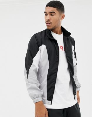Image 1 of Good For Nothing track jacket with contrast panels in black