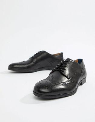 H By Hudson - Aylesbury - Scarpe stringate in pelle nere