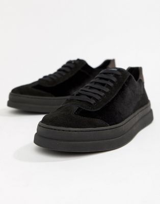 H By Hudson - Bateley sneakers in zwart fluweel