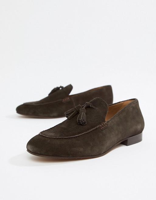 Bild 1 av H By Hudson – Bolton – Bruna loafers med tofsar i mocka