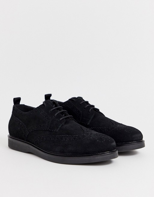 Image 1 of H by Hudson calverston brogues in black suede
