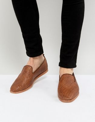 Image 1 of H By Hudson Ipanema Woven Loafers in Tan