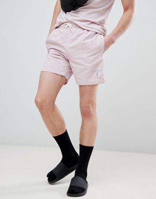 Hackett Mr. Classic Swim Shorts in Pink