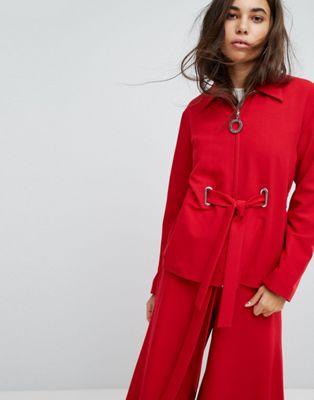 Hanger Jacket With Eyelet Details