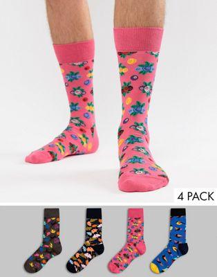 Happy Socks – Strumpor i 4-pack med skogstema – Julklappsset