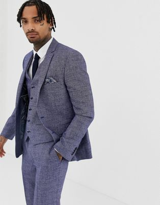 Image 1 of Harry Brown Blue Slim Fit Suit Jacket
