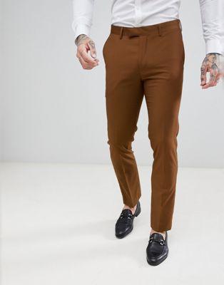 Harry Brown - Pantaloni da abito slim testurizzati tinta unita