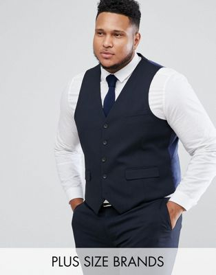 Image 1 of Harry Brown PLUS Plain Stretch Slim Suit Vest