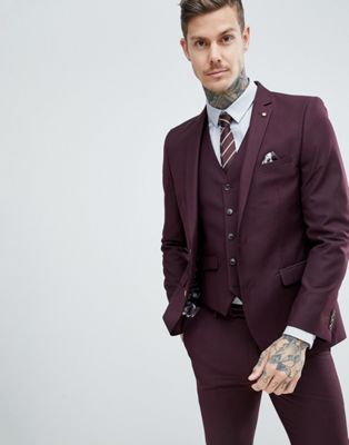 Image 1 of Harry Brown Slim Semi Plain Textured Suit Jacket