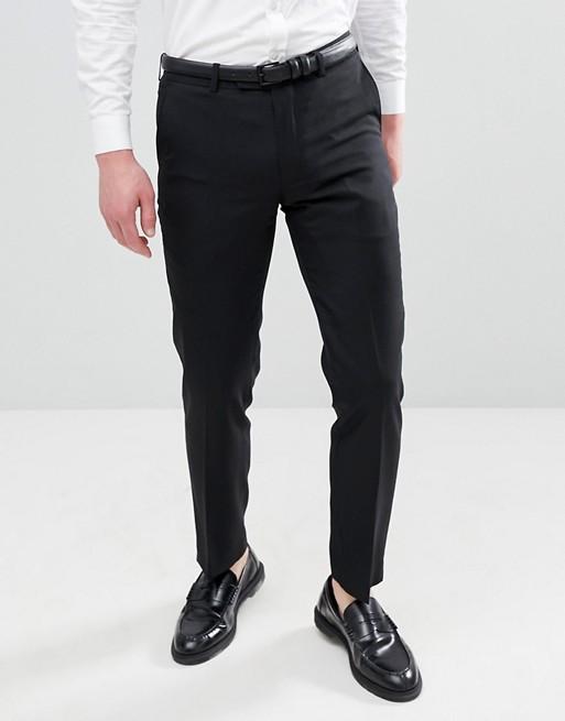 Bild 1 av Harry Brown – Svarta kostymbyxor i 50 % ull med smal passform