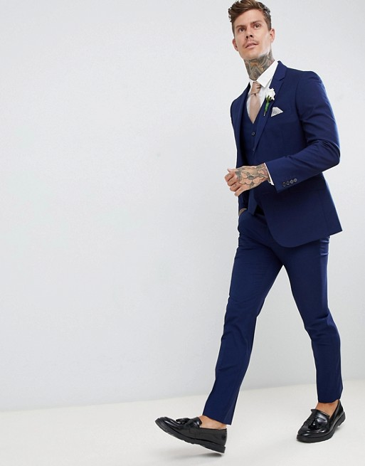 Image 1 of Harry Brown wedding slim fit super soft suit pants