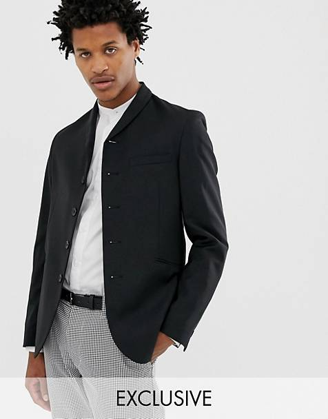 Hart Hollywood - High Break - Veste de costume slim à revers style col châle