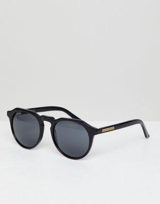 Hawkers – Warwick – Runde Sonnenbrille in Schwarz