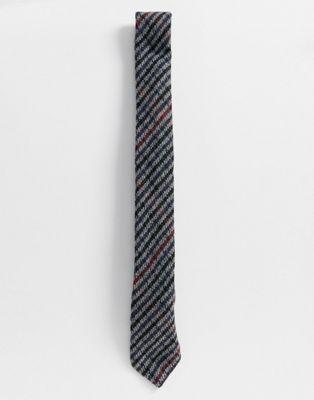 Heart & Dagger - Cravate à carreaux - Bleu marine