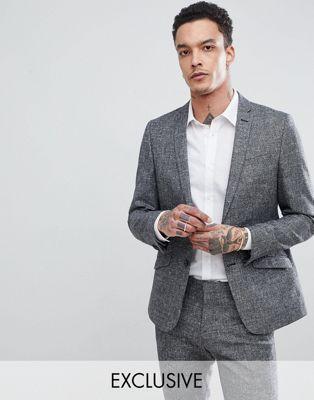 Bild 1 av Heart & Dagger - Kostymjacka i linnetextur med smal passform