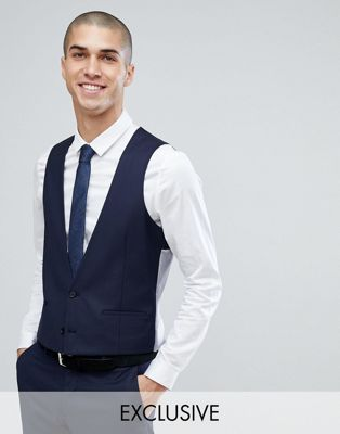 Image 1 of Heart & Dagger skinny db suit vest