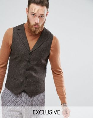 Image 1 of Heart & Dagger skinny tweed vest