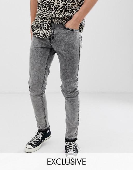 Image 1 of Heart & Dagger super skinny fit jeans in grey acid wash